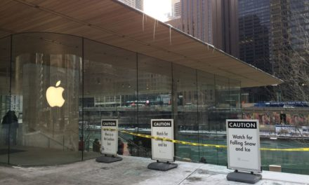 Apple's flagship Chicago retail store wasn't designed to handle snow