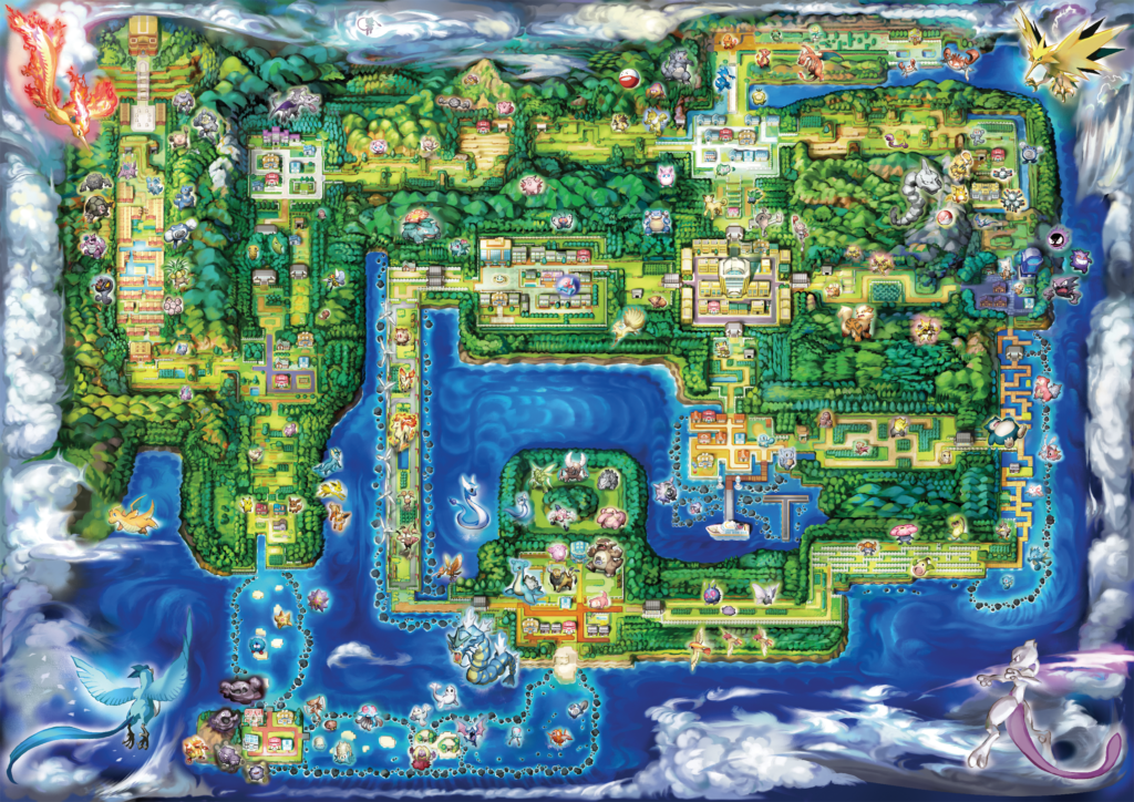 The region of Kanto in Pokemon: Let's Go!